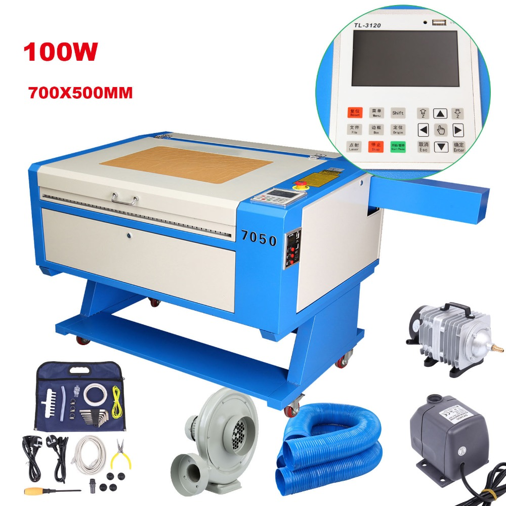 UK Shipping! 100W CO2 laser engraving cutting machine Engraver Cutter + High power laser tube new 400 600mm mini co2 laser engraving cutting machine engraver lz m46a