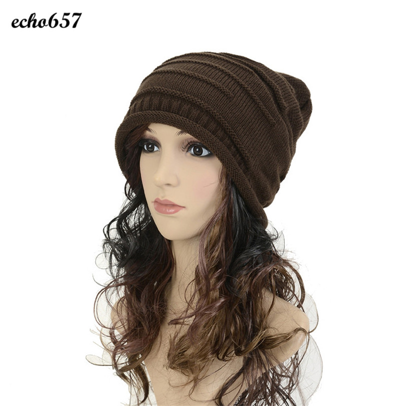 Hot Sale Caps Echo657 New Fashion Men Women Knitting Wool Skullies Pile Folds Tide Beanies Hat Dec 22 the new children s cubs hat qiu dong with cartoon animals knitting wool cap and pile