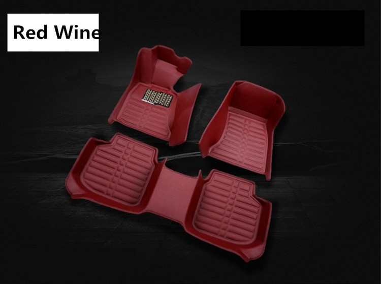 For Hyundai Solaris 2017.2018 Floor Mats Auto Foot Carpets Step Mat High Quality Water Proof Clean Solid Color auto floor mats for honda cr v crv 2007 2011 foot carpets step mat high quality brand new embroidery leather mats
