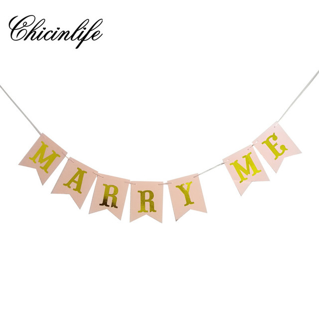 Chicinlife 1Set Marry Me Wedding Proposal Signs Banner Party Photo - party proposal