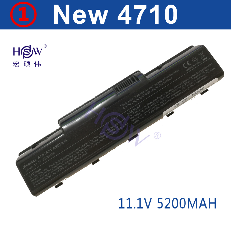 HSW 5200MAH Laptop Battery for Acer Aspire 4710 4720 5335Z 5338 5536 5542 5542G 5734Z 57 ...