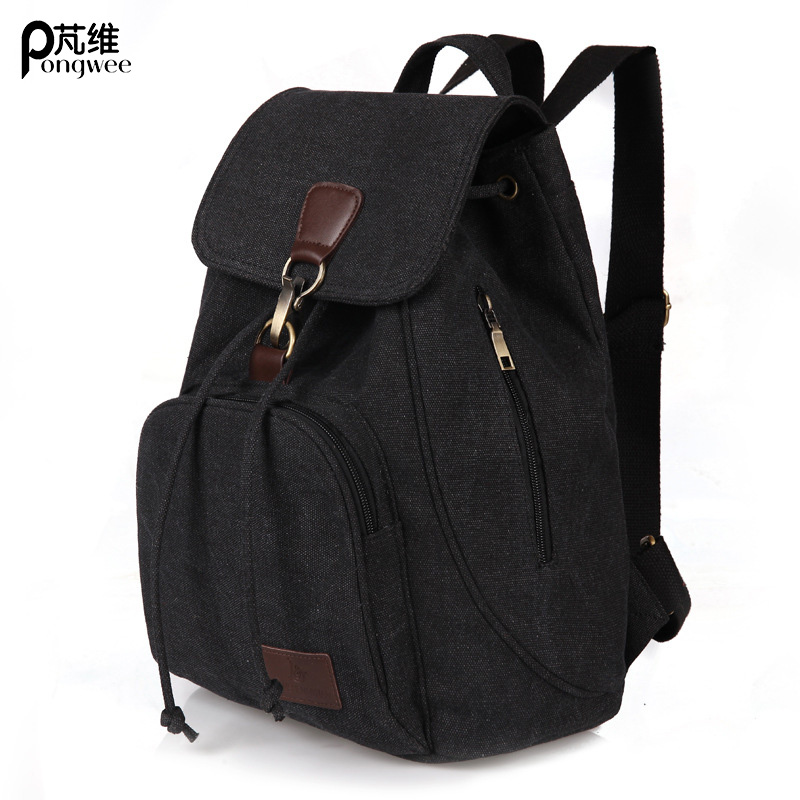 цены PONGWEE 2017 Travel Daily Military Backpack Bagpack Fashion Backpack Canvas School Bags For Teenagers Girls Shoulder Bag