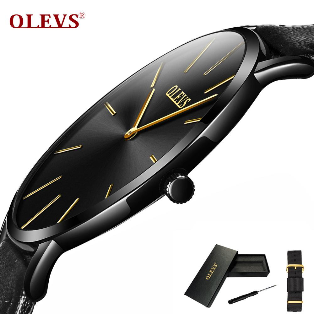 OLEVS Top Brand Business Men Wristwatches Ultra-thin 6.5mm Fashion Male Clock Waterproof Leather Watchband Students Watch G5868POLEVS Top Brand Business Men Wristwatches Ultra-thin 6.5mm Fashion Male Clock Waterproof Leather Watchband Students Watch G5868P