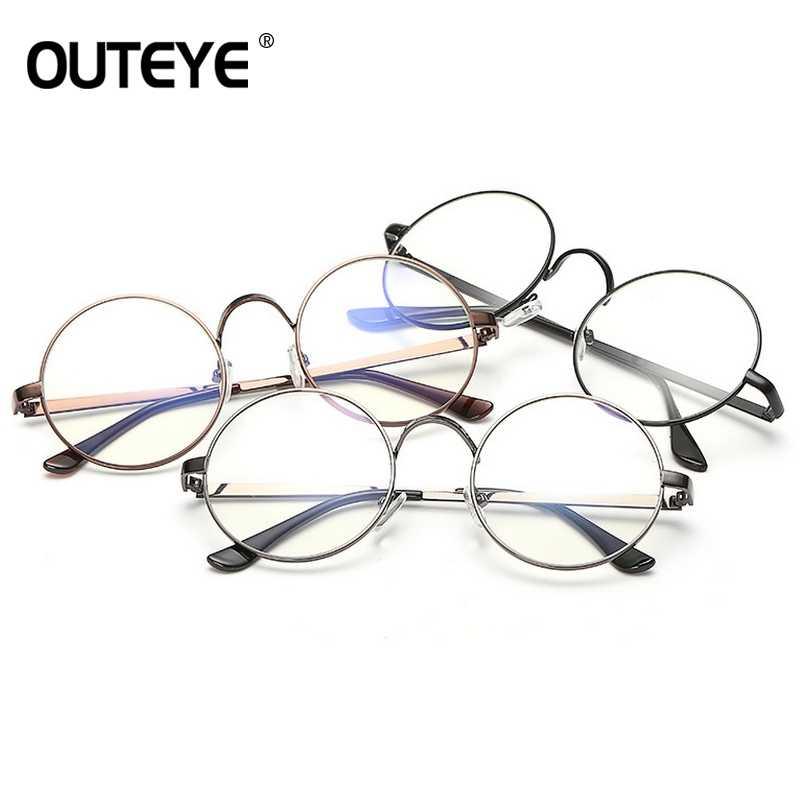 b50b7ca01a9 ... OUTEYE New Men Women Nerd Glasses Clear Lens Eyewear Unisex Retro  Eyeglasses Nerd Spectacles Big Round ...