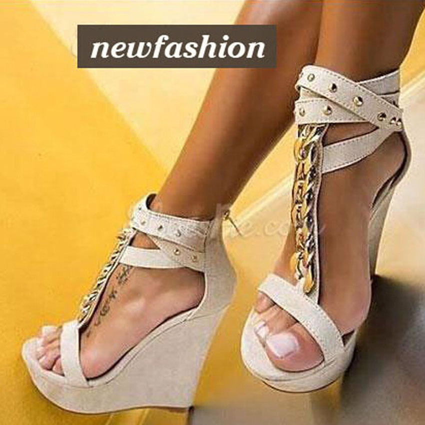 Charming Ankle Cross Strap Gladiator Sandals Woman Gold