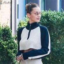 f79723f47 Macheda Women Casual Zip Half Open Collar Stripe Long Sleeve Sweatshirt  Autumn 2018 New Ladies loose