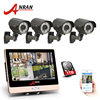 ANRAN 4CH CCTV System 12 Screen NVR 1080P IP Camera POE 2 0MP Outdoor Waterproof Security