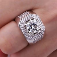 Size 8 13 Round Cut Solitarie Free Shipping 8mm White Sapphire Simulated Diamond 10k White Gold