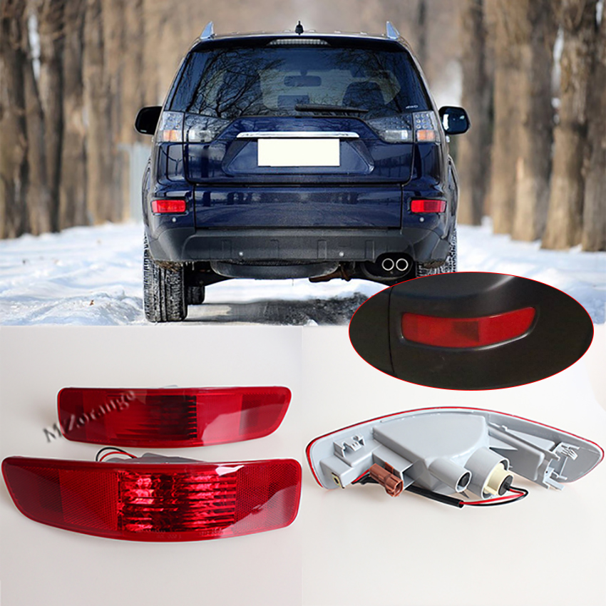 Rear Right Left Tail Fog Light bumper Lamp Reflector 8352A005 8337A015 for Mitsubishi Outlander EX 2007 2008 2009 2010 2011 2012 red left right car rear side tail light brake lamp light for toyota hilux 2005 2006 2007 2008 2009 2010 2015 lh rh