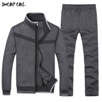 Free Shipping 2018 New Arrival Brand Mens Sport Suit Outdoor Summer Running Sets Jacket+Pants Plus Size L 4XL 75wy