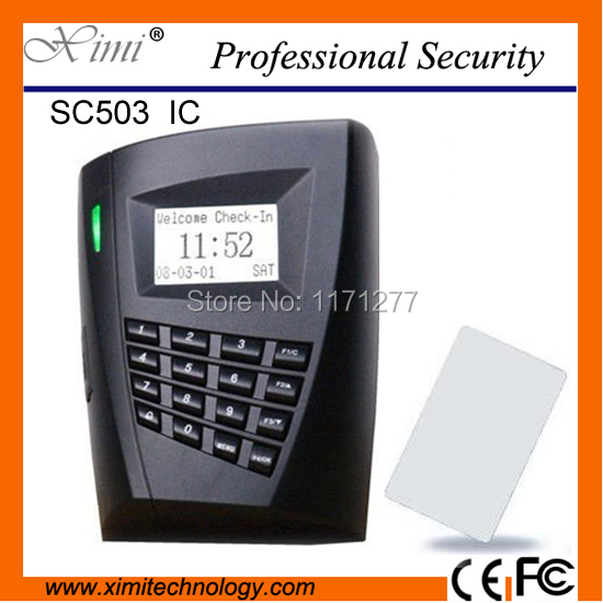 Free shipping SC503 Door lock RS232/485 communication 100000 Log capacity 13.56MHZ card reader access control system