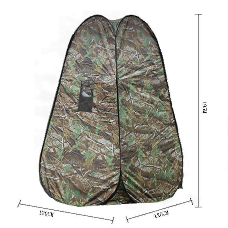 Portable Privacy Shower Toilet Camping Pop Up Camouflage function outdoor picnic shift Bathing dressing tent photography