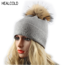 Cap Knitted Pom Warm