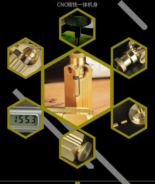 Briquet Gift Handmade Brass Oil Lighter8