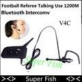 Vnetphone 1200 M 4 Al Usuario Hablar Al Mismo Tiempo de Intercomunicación Árbitro de Fútbol Auriculares Full Duplex Bluetooth Intercom V4C interfono