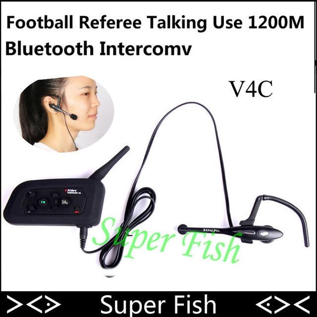 Vnetphone 1200M 4 User To Speak At The Same Time Intercom Football Referee Headset Full Duplex Bluetooth Intercom V4C Interphone