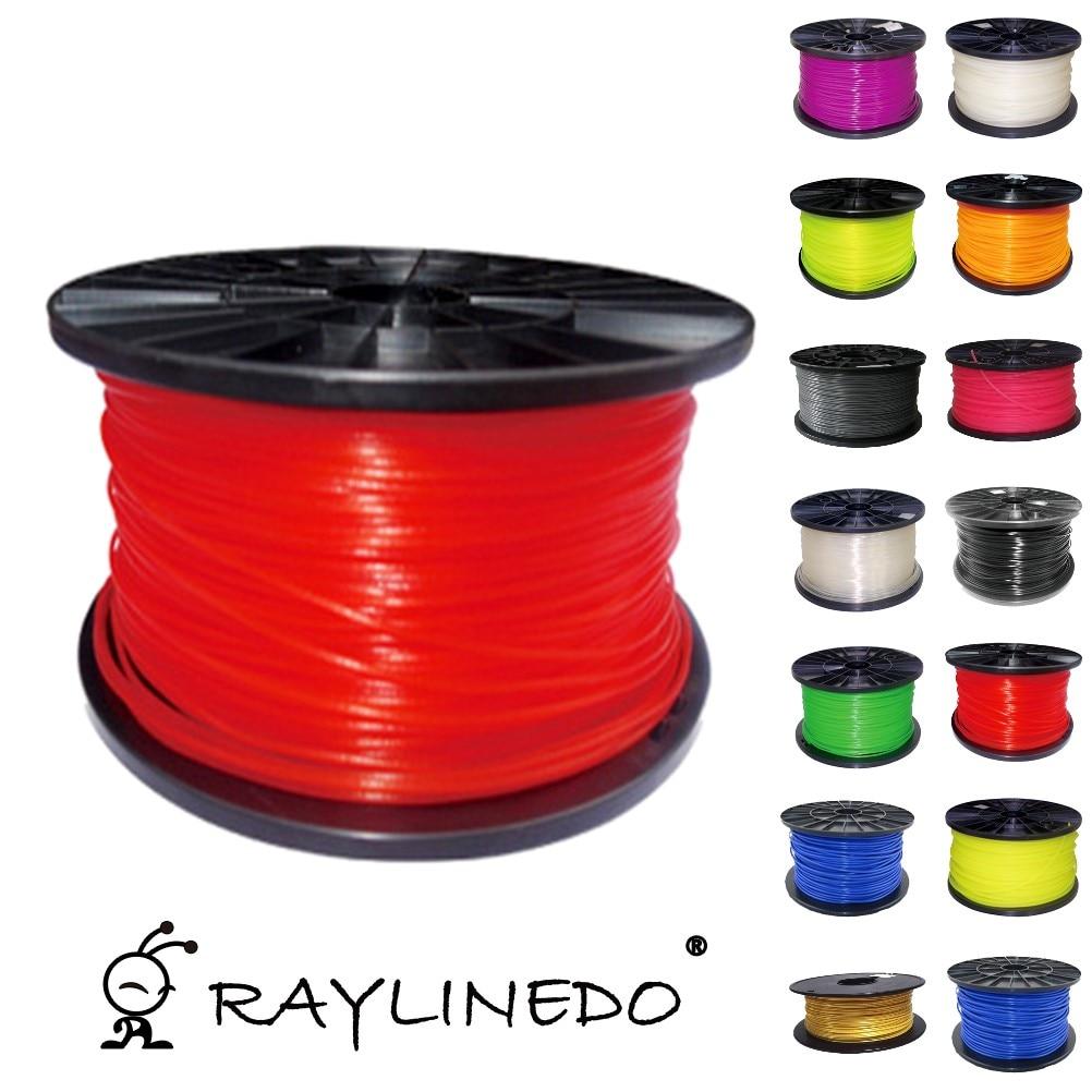 Glow In Dark Red Color 1Kilo-2.2Lb Quality ABS 1.75mm 3D Printer Filament 3D Printing Pen Materials