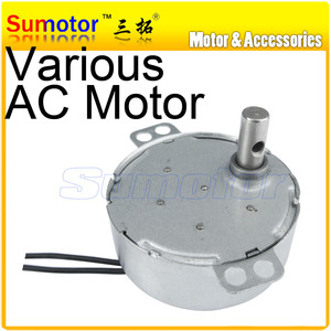 TYC49 4W 220V 50/60HZ AC synchronous gear motor 2.5 5 10 15 20 30 rpm Gifts Crafts rotate exhibition Microwave oven Small fans(China)