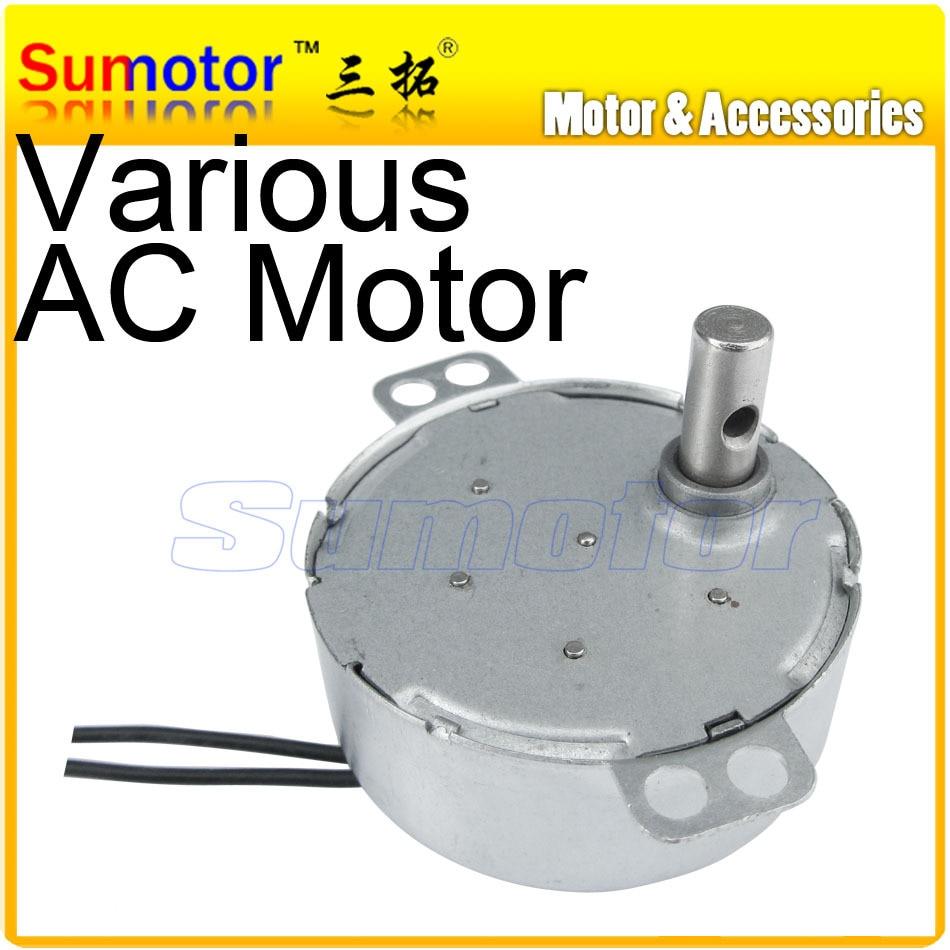 Tyc49 4w 220v 50 60hz ac synchronous gear motor 2 5 5 10 for Small ac gear motor