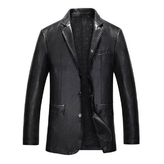 KUYOMENS ePacket Free Shipping Winter New Style Leather Jacket Men Motorcycle Business Slim Leather Jacket Classical Men Coat