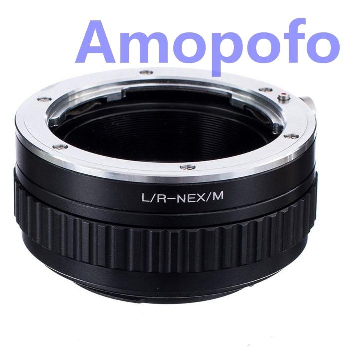Adaptateur Amopofo LR-NEX/M pour objectif Leica R adaptateur pour monture SonyE NEX Macro mise au point hélicoïdal NEX-5C, NEX-C3, NEX-VG10