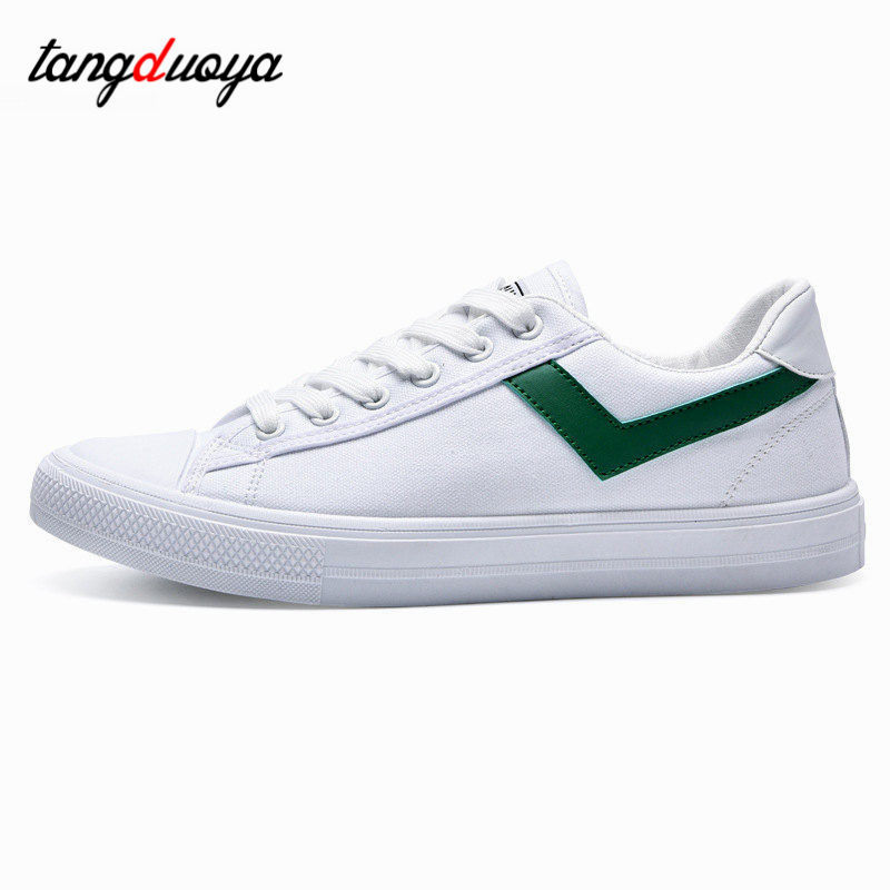 Fashion Men Vulcanized Shoes Canvas Male Footwear Comfortable Flat - Men's Shoes