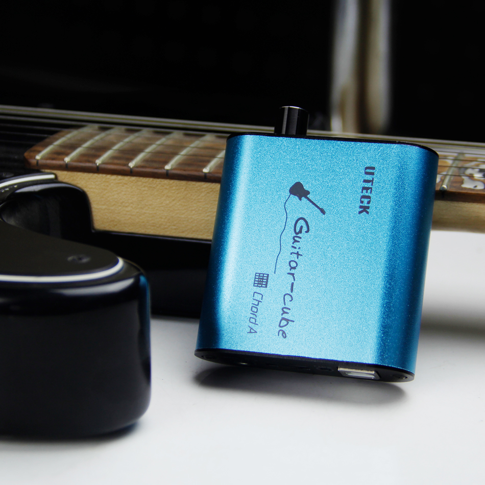 Uteck Chord Un Guita Cubo Porttil Interfaz De Audio Usb Y Di Caja