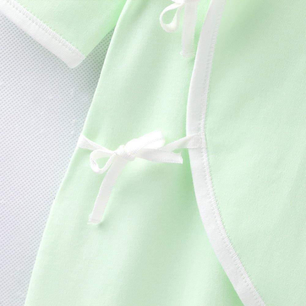 COBROO Baby 100% bawełna Romper z paskiem dekolt w serek z długim - Odzież dla niemowląt - Zdjęcie 6