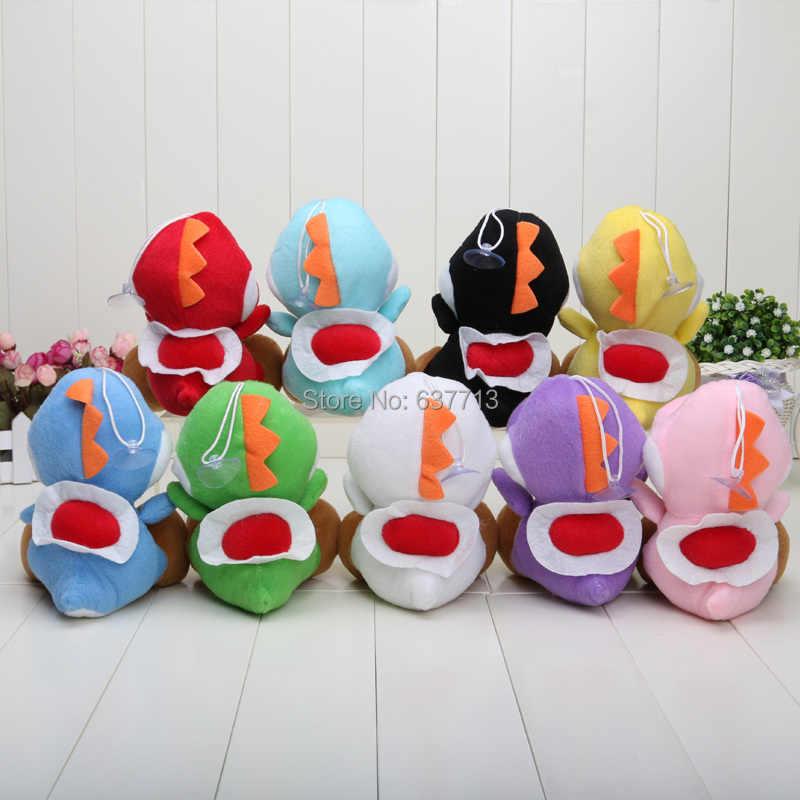 5 шт./партия, розничная продажа, Mario Bros, новинка, 7 дюймов, yoshi, плюшевая игрушка, фигурка куклы, 9 цветов, yoshi, зеленый, черный, красный, желтый