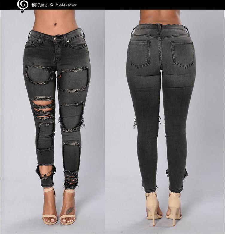 Online Get Cheap Dark Grey Jeans Women -Aliexpress.com | Alibaba Group