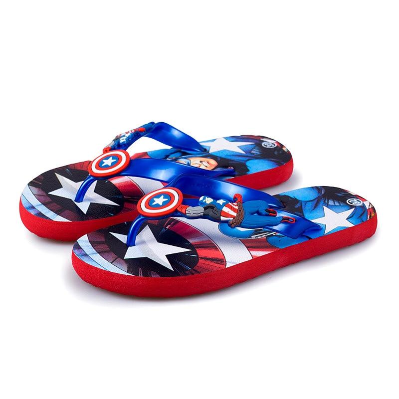 31668768 2018 Summer Sandals Baby Girls Boys Slippers Children PVC Cartoon Flip flops  Captain America Spiderman Toddler Beach Kids Sandal-in Sandals from Mother  ...