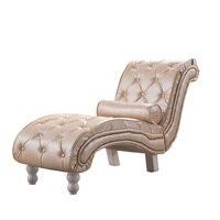 Искусственная кожа Хохлатая шезлонг современный мягкий диван для спальня мебель гостиной Честерфилд шезлонг кушетка