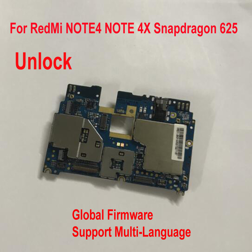 Image 2 - Global Firmware Original Unlock Xiaomi redmi note 4X note 4 Global Version Snapdragon 625 MainBoard MotherBoard Fee Flex Cable-in Phone Accessory Bundles & Sets from Cellphones & Telecommunications