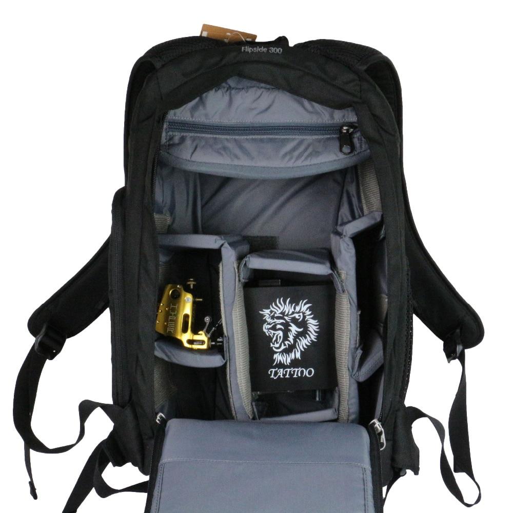 2016 1pcs Tattoo High Quality  New Black Backpack Black Tattoo Artist Travel Bag For Tattoo Body Art Free Shipping