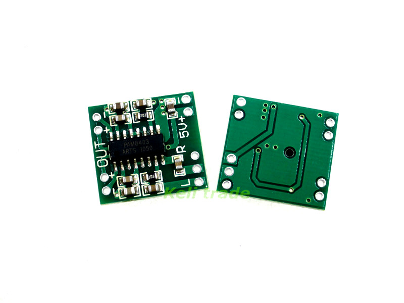 1PCS PAM8403 2.5-5V 2X3W Mini Audio Class D Amplifier Board