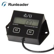 RL-HM011A цифровой сбрасываемый счетчик времени записи оборотов в минуту тахометр метр используется для газового двигателя Морские генераторы снегоходы велосипед ямы