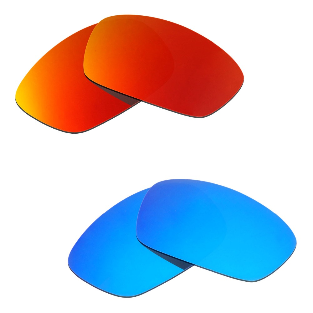 2 Pairs Hijinx Sunglasses Polarized Replacement Lenses Red Blue From HKUCO