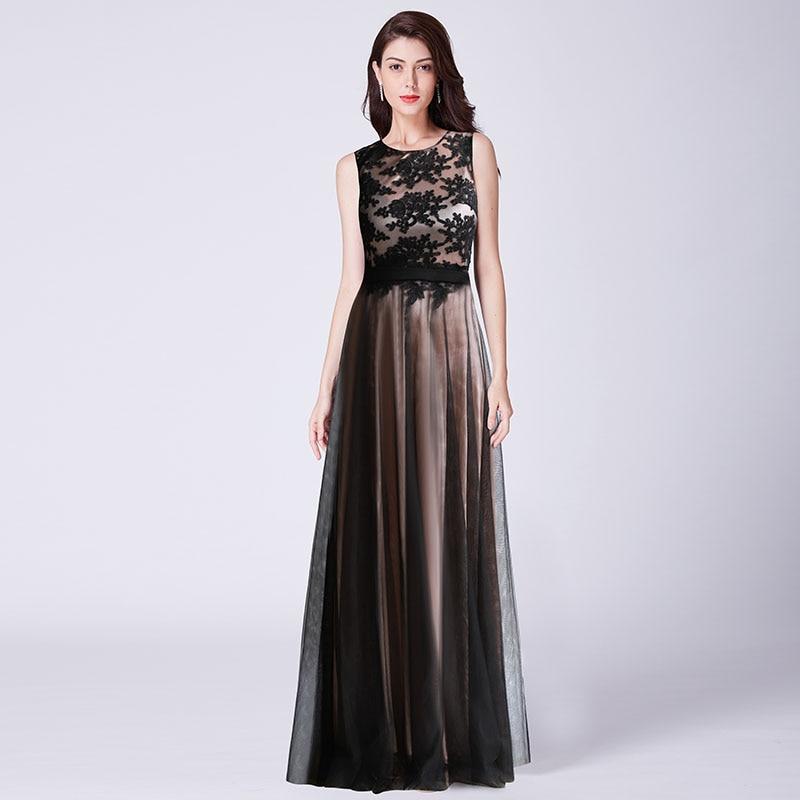 Dropwow Robe de Soiree Longue Elegant Black Lace Red Prom Dress Long ... 0bff924c4
