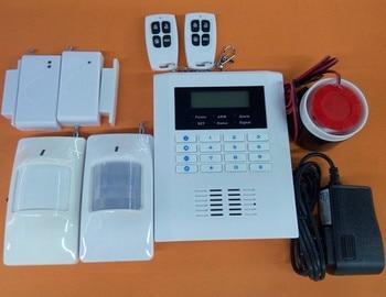 Multi-language optional 2 PIR Sensor 2 Door Contact Dual Band GSM + PSTN Alarm System