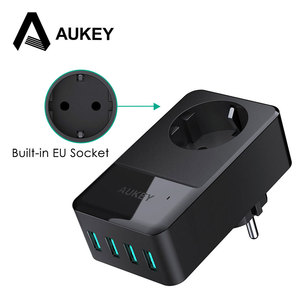 Image 1 - AUKEY 4 Ports Mini USB Charger 16A Wall Socket Charger + 30W 4 Smart USB Mobile Phone Fast Charger for iPhone X Samsung Xiaomi