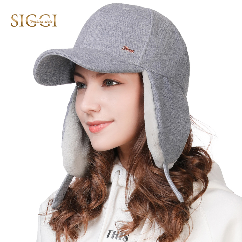FANCET Cute Wool Winter   Baseball     Cap   For Women Adjustable Earflap Warm Streetwear Snapback   Caps   Girls Gorros Trapper Hats 99717