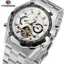Forsining Top Brand Man Watches Automatic Men's Day Tourbillon Mechanical Watch Wristwatch Gifts Box Free Ship