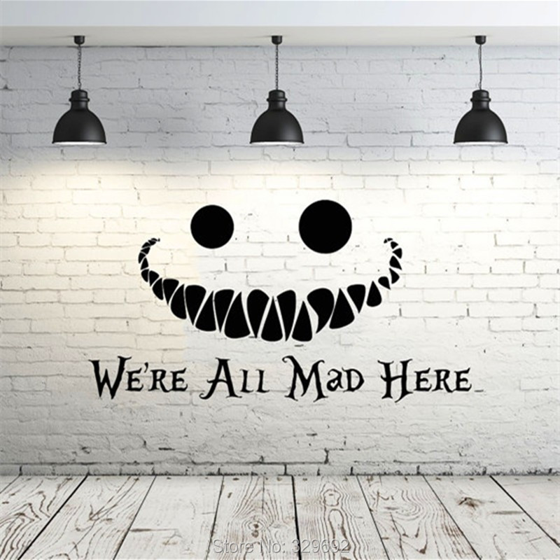 Alice In Wonderland Wall Art online shop alice in wonderland wall decal vinyl sticker quotes we
