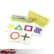 Предсказание кубики дети волшебные трюки игрушки реквизит ESP карты