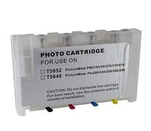Vilaxh Refillable ink cartridge for Epson PictureMate 200 pm240 pm260 pm280 pm290 PM 225 pm300 printer with auto reset chip