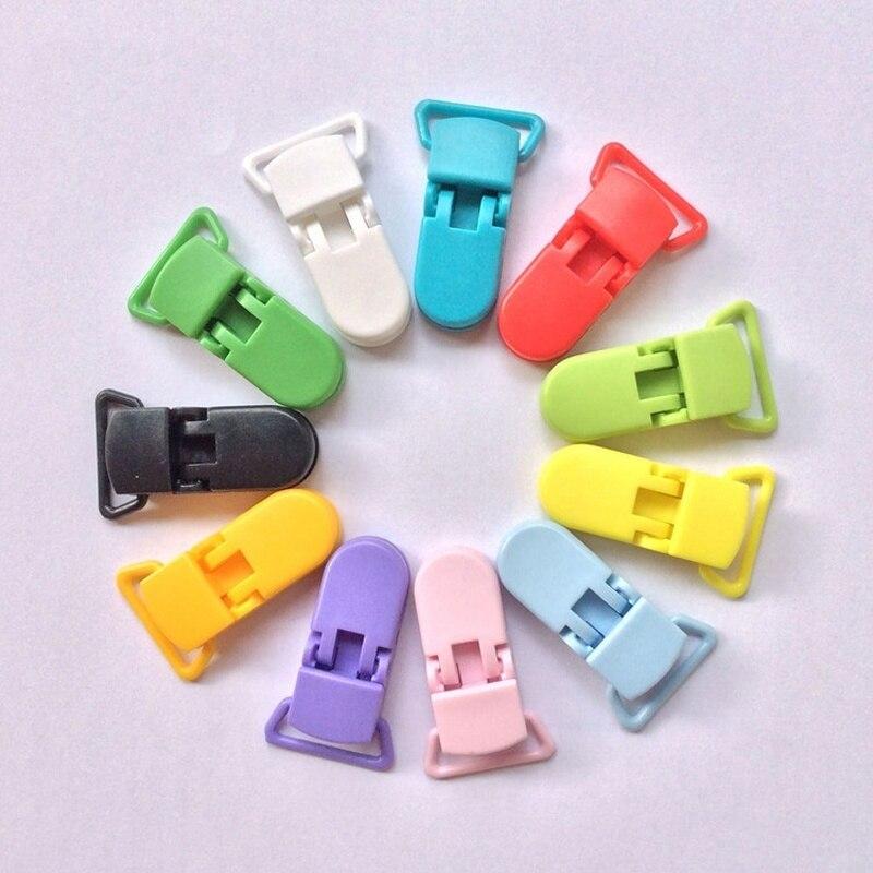 10 Pz Plastica Ciuccio Clip Porta Ciuccio Mam Infantile Dummy Clip Catena Per 20mm Nastro Del Bambino Trasparente Clip Per Bambino
