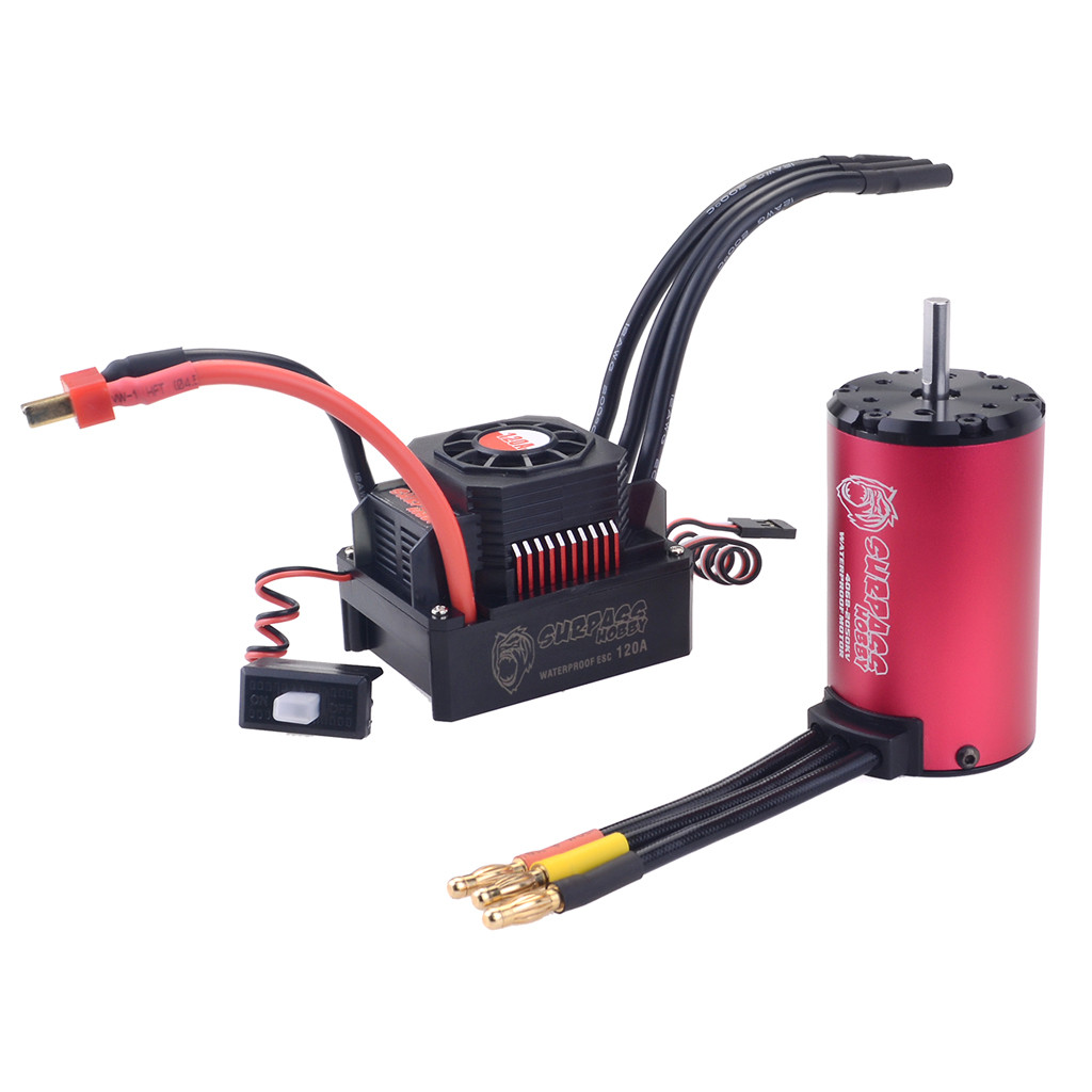 Helicopter Battery 2019 TOP Waterproof 4068 2050KV Brushless Motor + 120A ESC Set for 1/8 RC Car Truck 5.29Helicopter Battery 2019 TOP Waterproof 4068 2050KV Brushless Motor + 120A ESC Set for 1/8 RC Car Truck 5.29