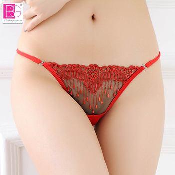 L'bellagiovanna Panties Women Lace Bikini Female Underwear Thongs Embroidery Panty Briefs Girls Sexy intimates Small size 2153