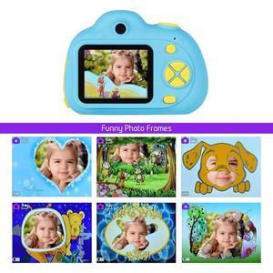 Image 3 - Enfants caméra Mini Carton numérique SLR caméra intelligente double objectif 2.0 pouces 12MP Anti chute jouet caméra pour garçons filles cadeau de noël