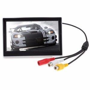 Image 4 - 5 นิ้ว TFT LCD 800x480 16:9 จอแสดงผลกระจกมองหลังรถยนต์ 2 ทิศทางสำหรับด้านหลังดูย้อนกลับกล้อง
